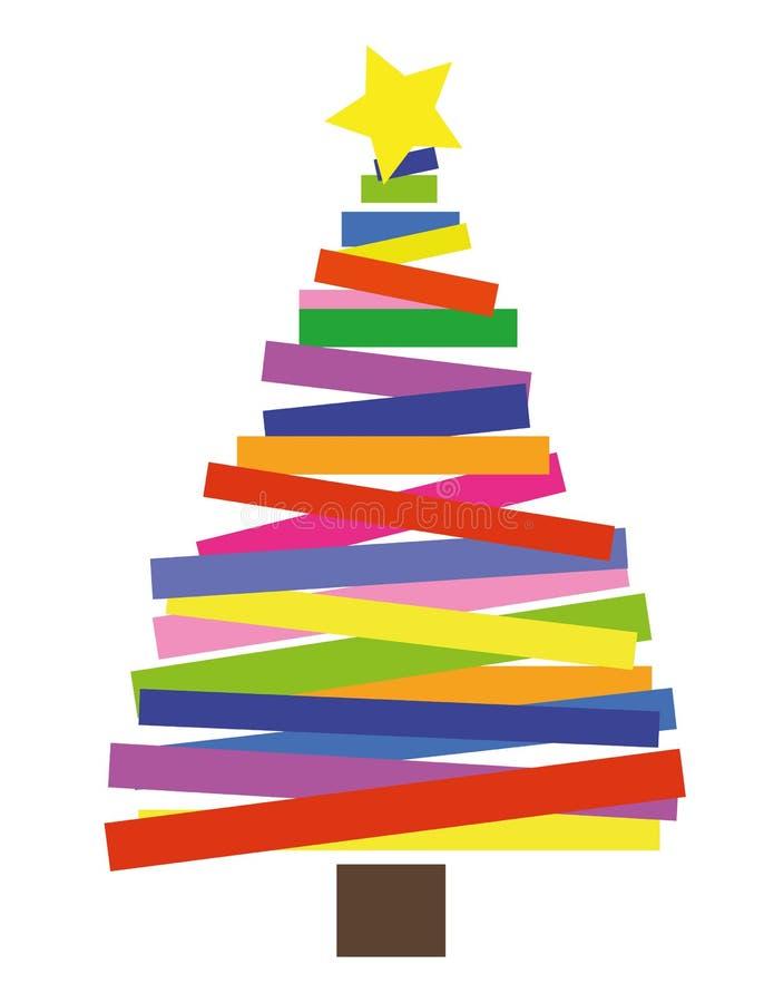 Foto Collage Di Natale.Collage Dell Albero Di Natale Illustrazione Di Stock Illustrazione Di Rosso Disegno 62039940
