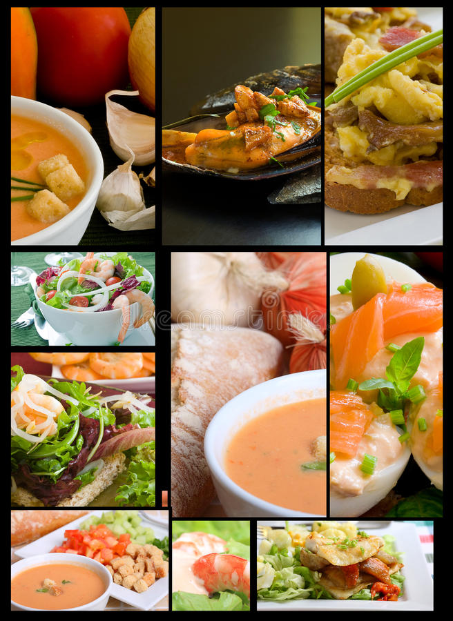 Collage dell'alimento fotografia stock