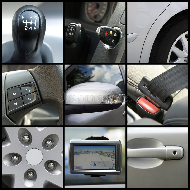 Collage dell'automobile immagine stock