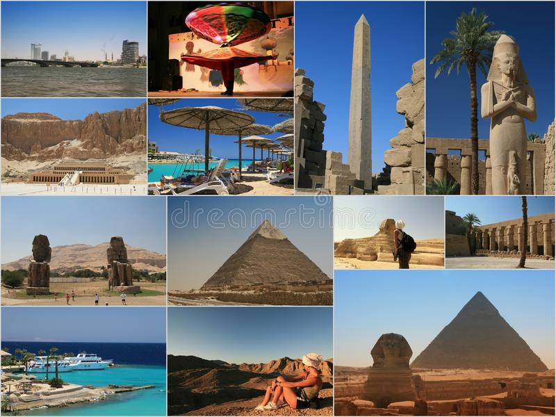 Collage dell'Egitto fotografia stock libera da diritti