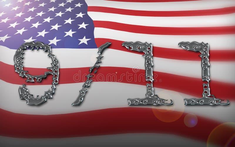 Collage della bandiera americana illustrazione vettoriale
