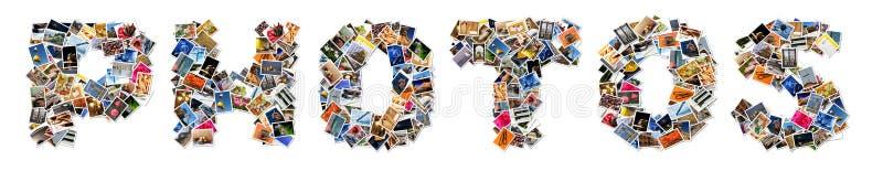 Collage della foto illustrazione vettoriale