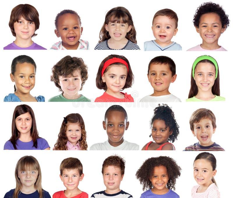 Collage della foto dei bambini fotografia stock libera da diritti