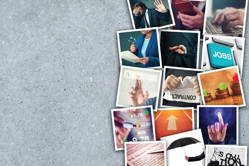 Collage della foto di imprenditorialità e di affari fotografie stock libere da diritti