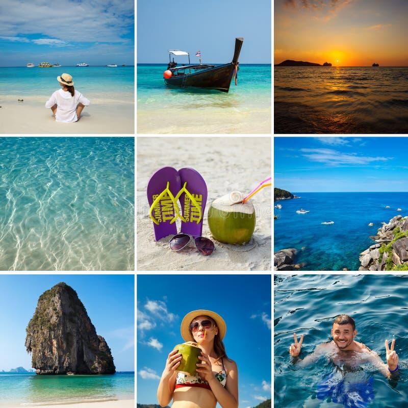 Collage della foto di viaggio La Tailandia, tropici fotografia stock libera da diritti