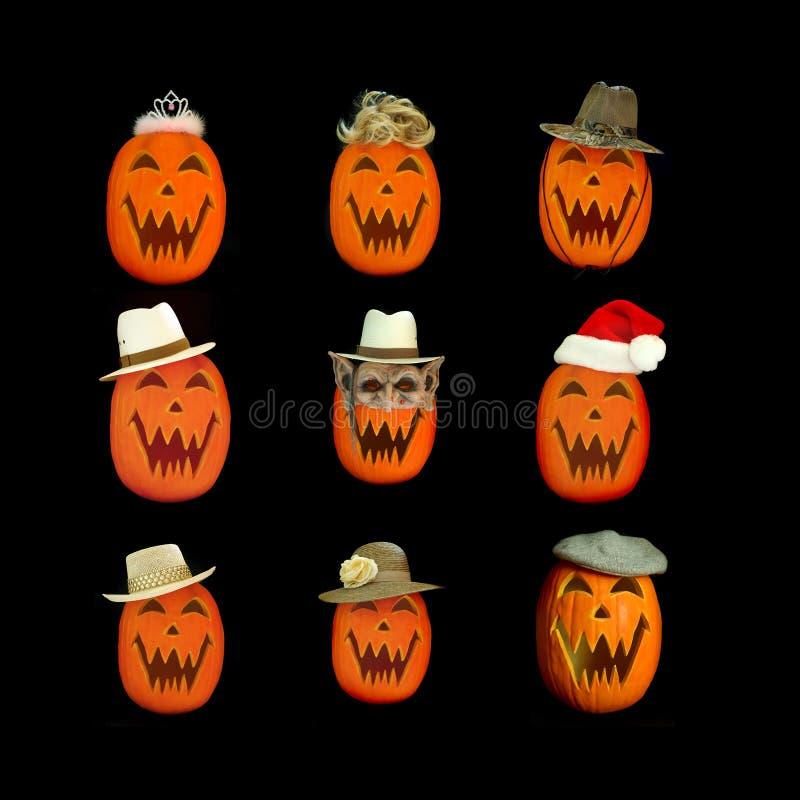 Collage della lanterna di Halloween Jack O fotografia stock libera da diritti