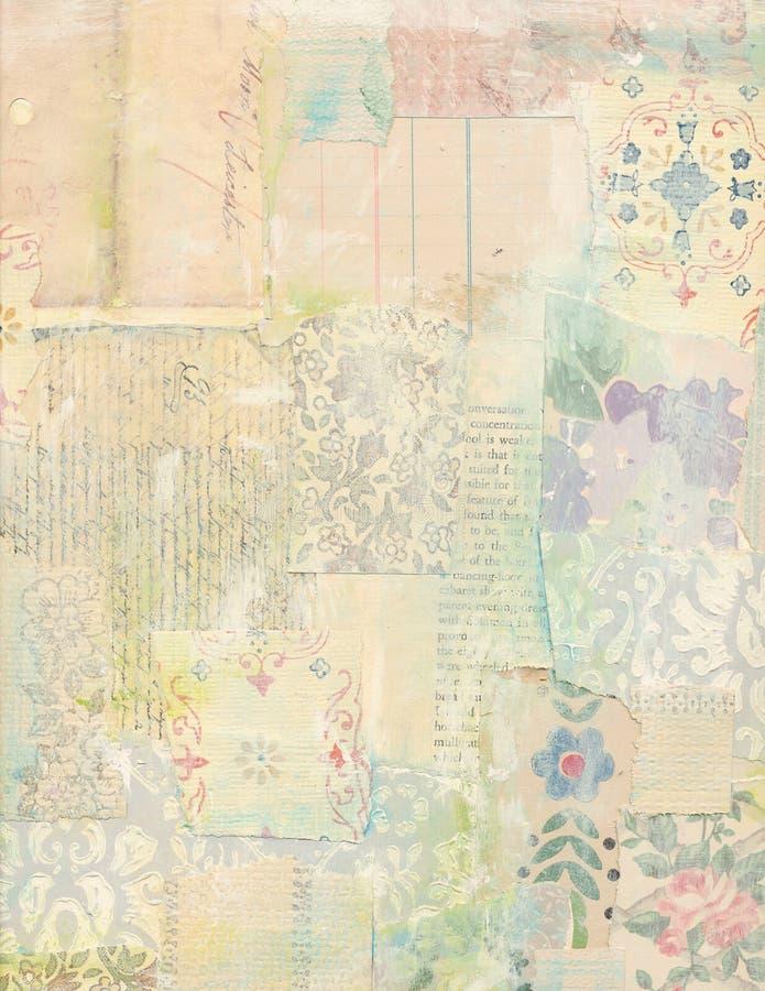 Collage della rappezzatura delle carte d'annata fotografie stock libere da diritti