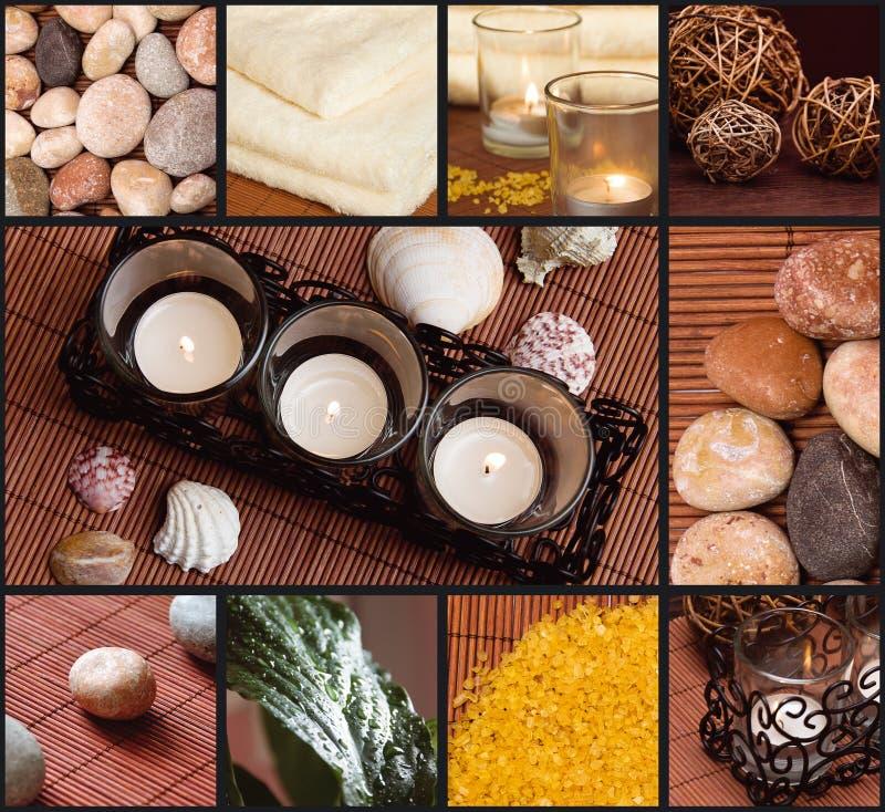 Collage della stazione termale fotografie stock libere da diritti