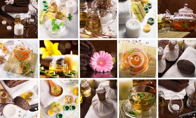 Collage della stazione termale immagini stock libere da diritti