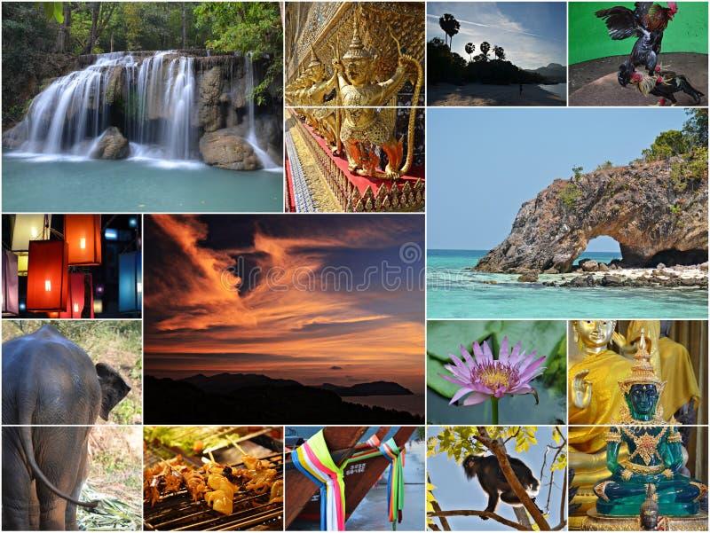 Collage della Tailandia fotografie stock