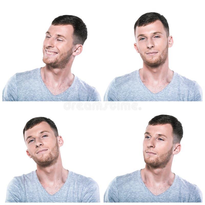 Collage delle espressioni vaghe del fronte immagine stock