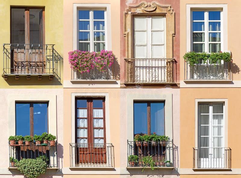Collage delle finestre immagine stock