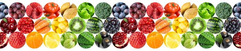 Collage delle frutta e delle verdure fotografie stock libere da diritti