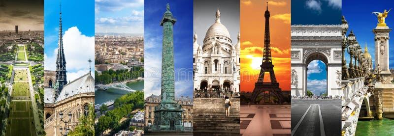Collage delle immagini di Parigi fotografie stock