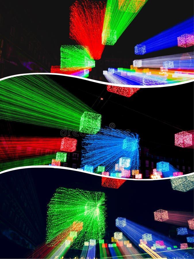 Collage delle immagini sfocate di illuminazione immagini stock libere da diritti
