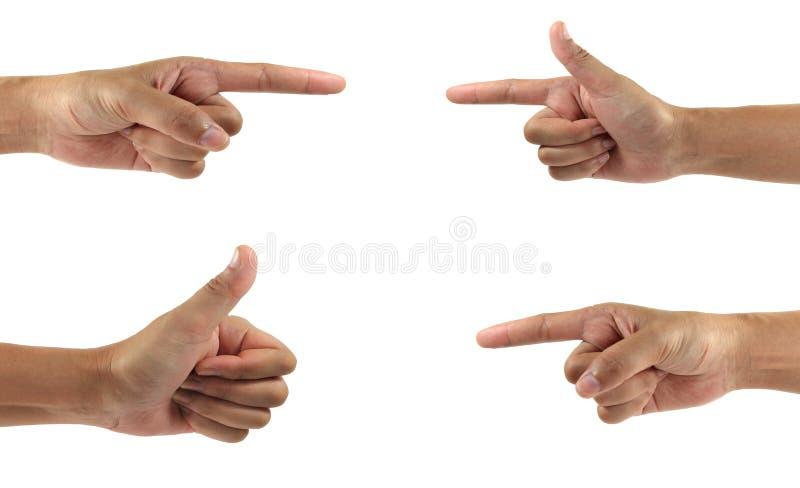 Collage delle mani della donna sugli ambiti di provenienza bianchi immagine stock
