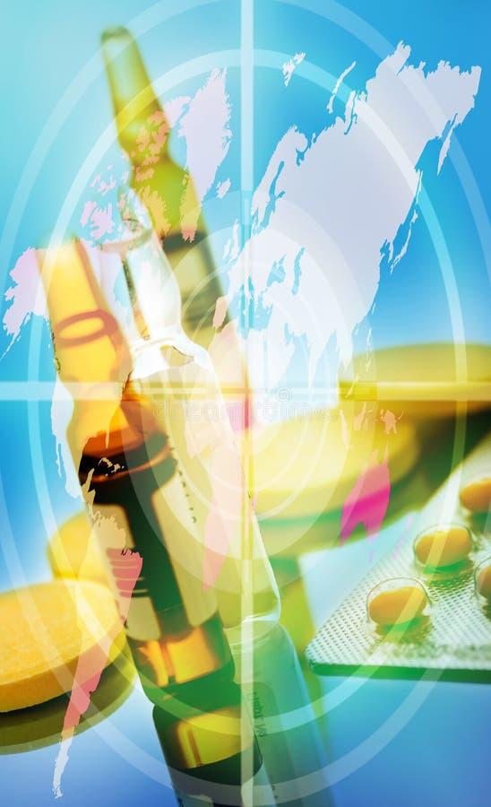 Collage delle pillole fotografia stock libera da diritti