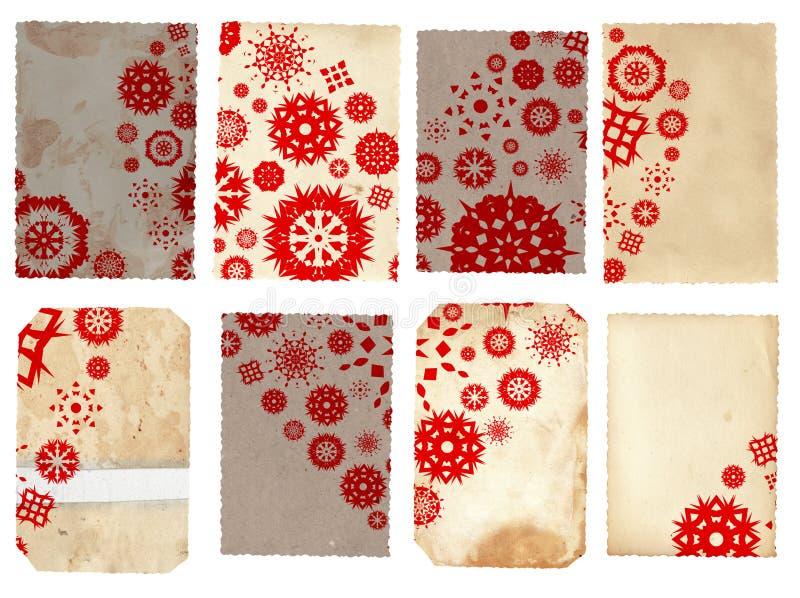 Collage delle schede di carta dell'annata illustrazione vettoriale