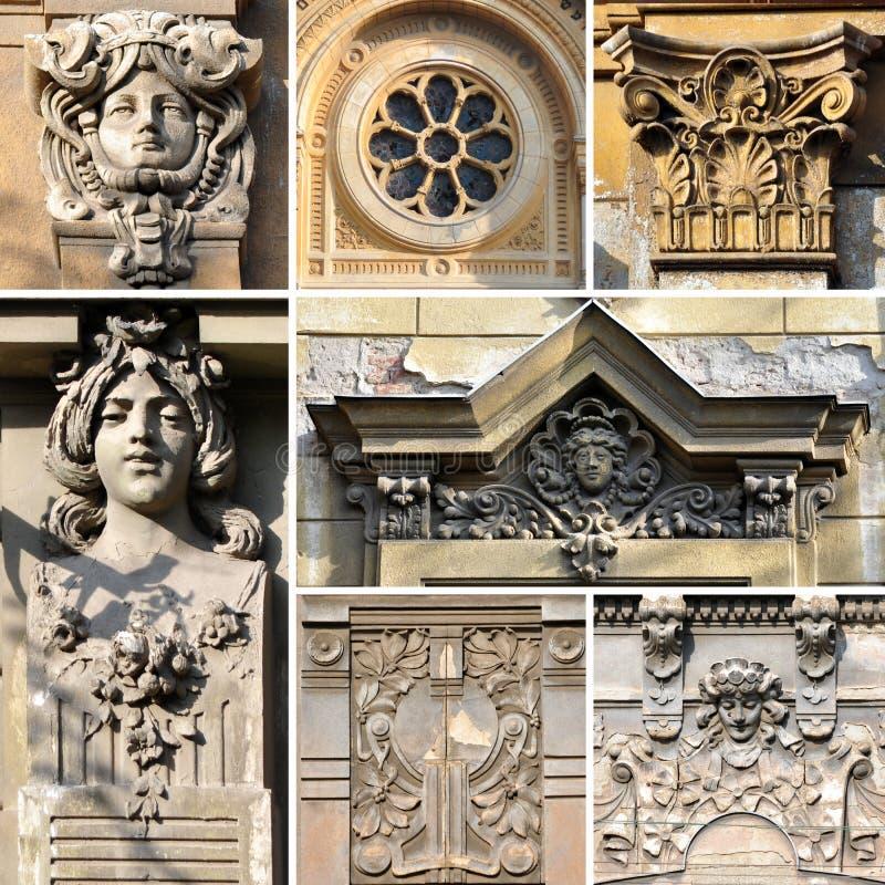 Collage dello stucco immagine stock libera da diritti