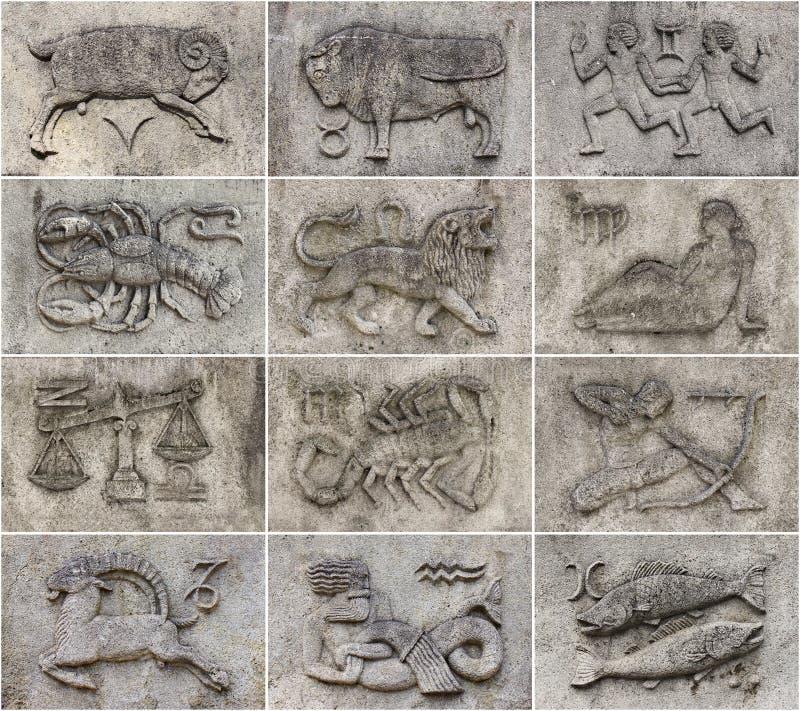Collage dello zodiaco fotografie stock libere da diritti