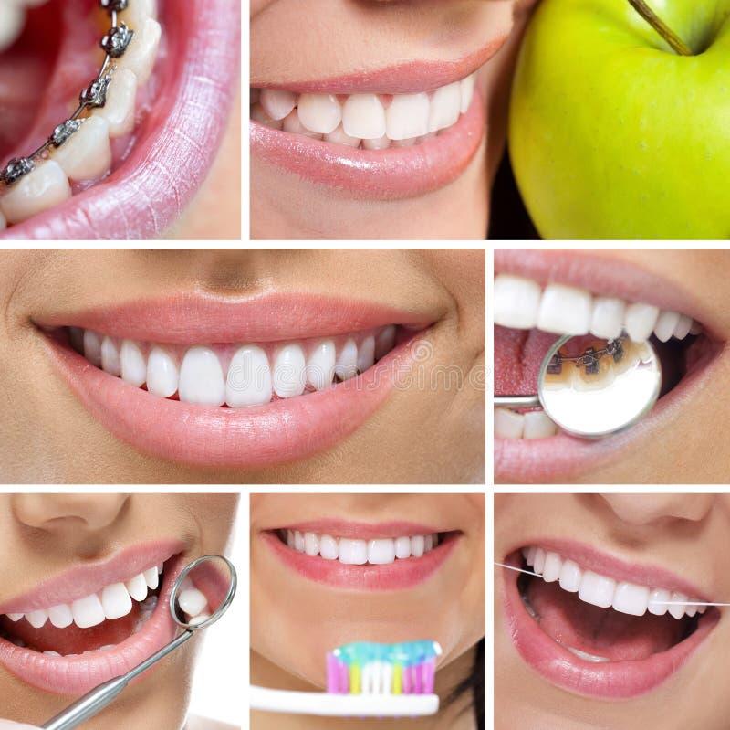 Collage dental fotografía de archivo