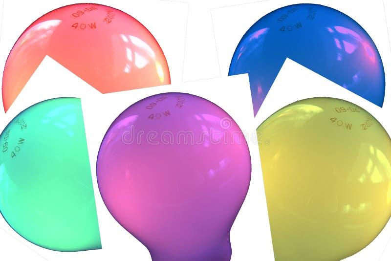 Collage der Glühlampeabbildungen lizenzfreies stockfoto
