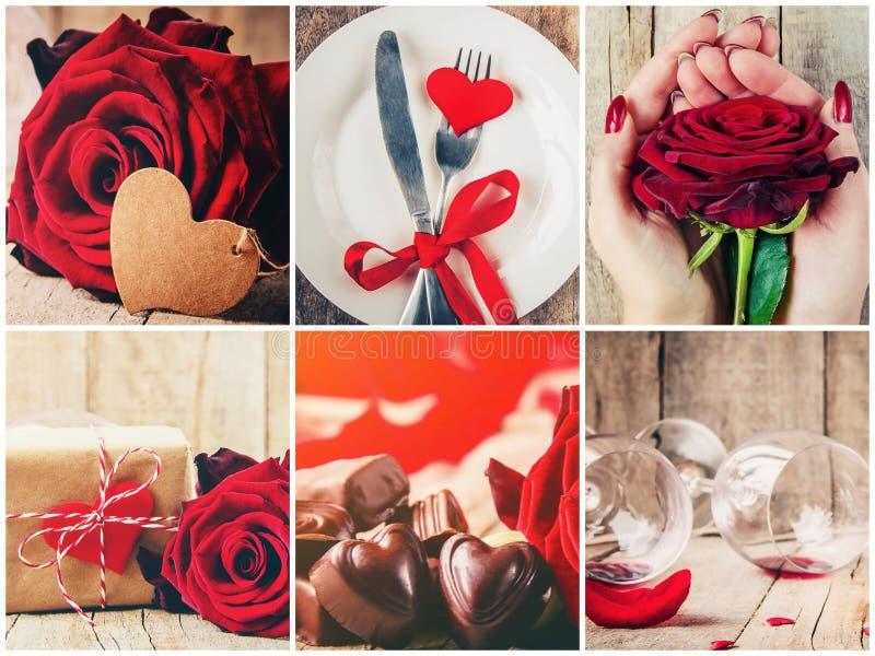 Collage der Liebe und Romantik lizenzfreies stockfoto