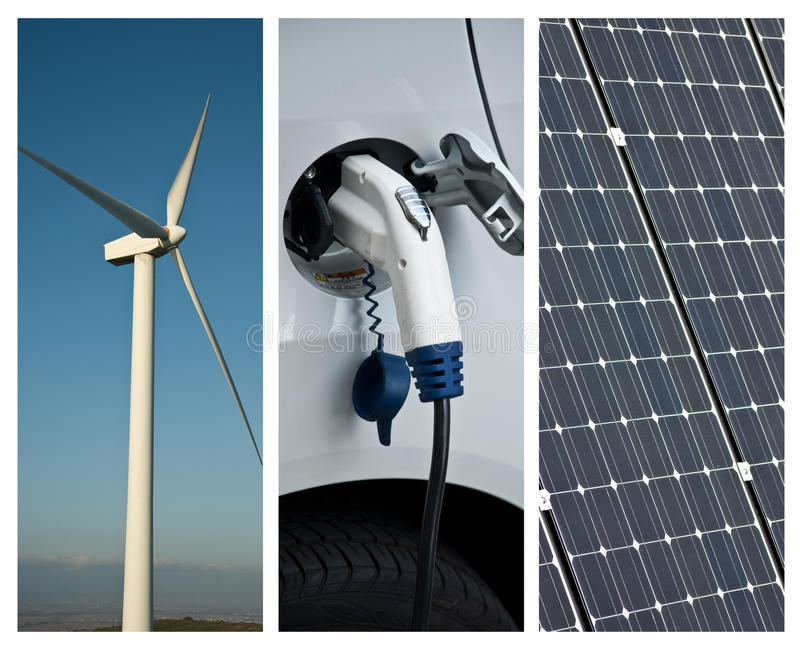 Collage der nachhaltigen Entwicklung lizenzfreie stockbilder