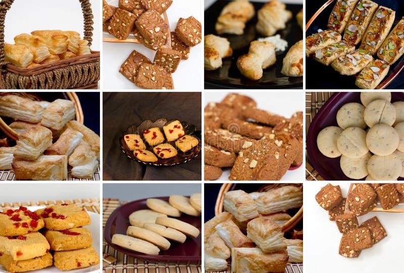 Collage des biscuits et des biscuits image stock