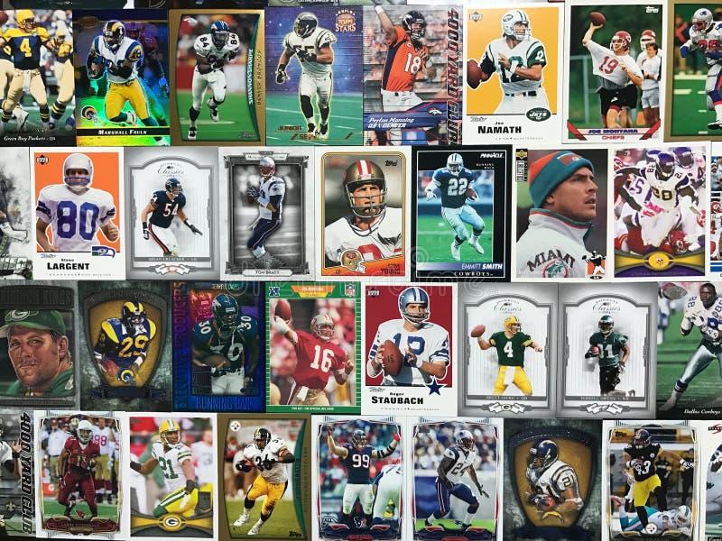 Collage des cartes du football photographie stock libre de droits
