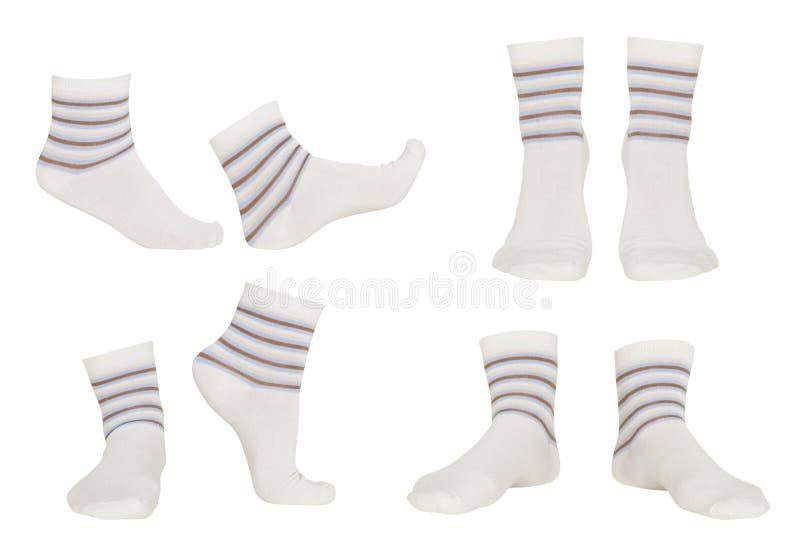 Collage des chaussettes photographie stock libre de droits
