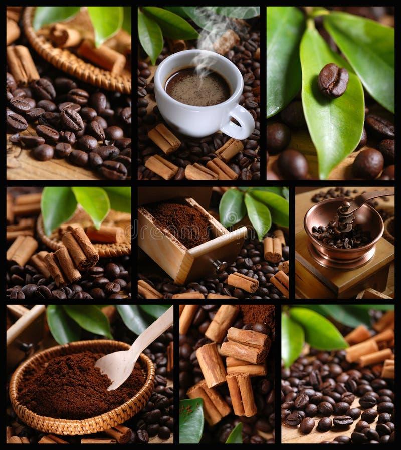 Collage de café images stock