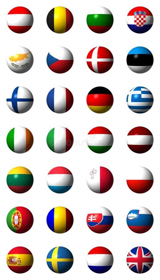 Collage des drapeaux de l'Union européenne illustration libre de droits