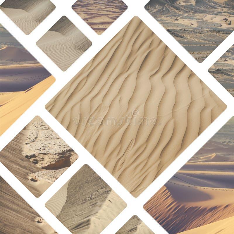Collage des endroits typiques au Maroc - mes photos illustration stock