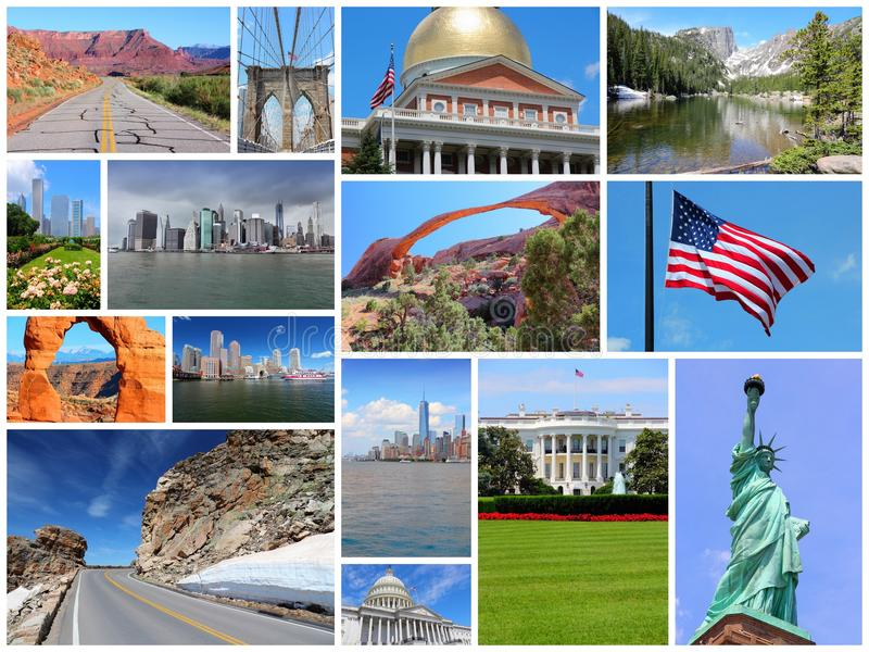 Collage des Etats-Unis photographie stock