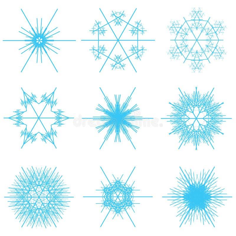 Collage des flocons de neige bleus illustration de vecteur