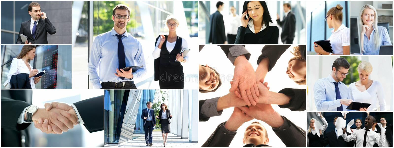 Collage des gens d'affaires images libres de droits