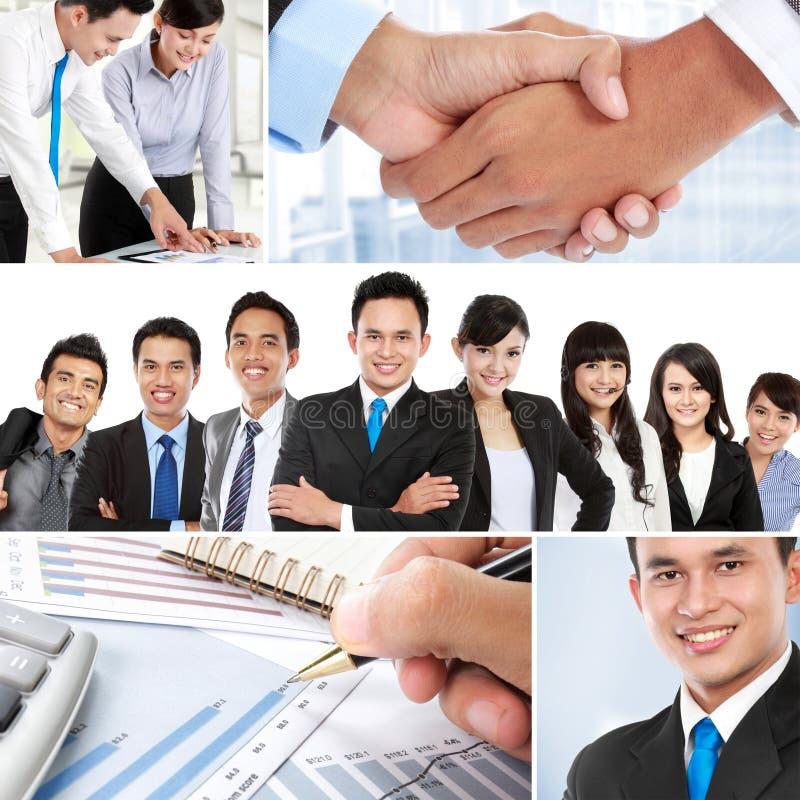 Collage des gens d'affaires asiatiques image stock