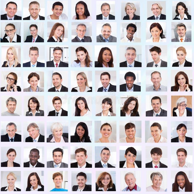 Collage des gens d'affaires de sourire photos libres de droits