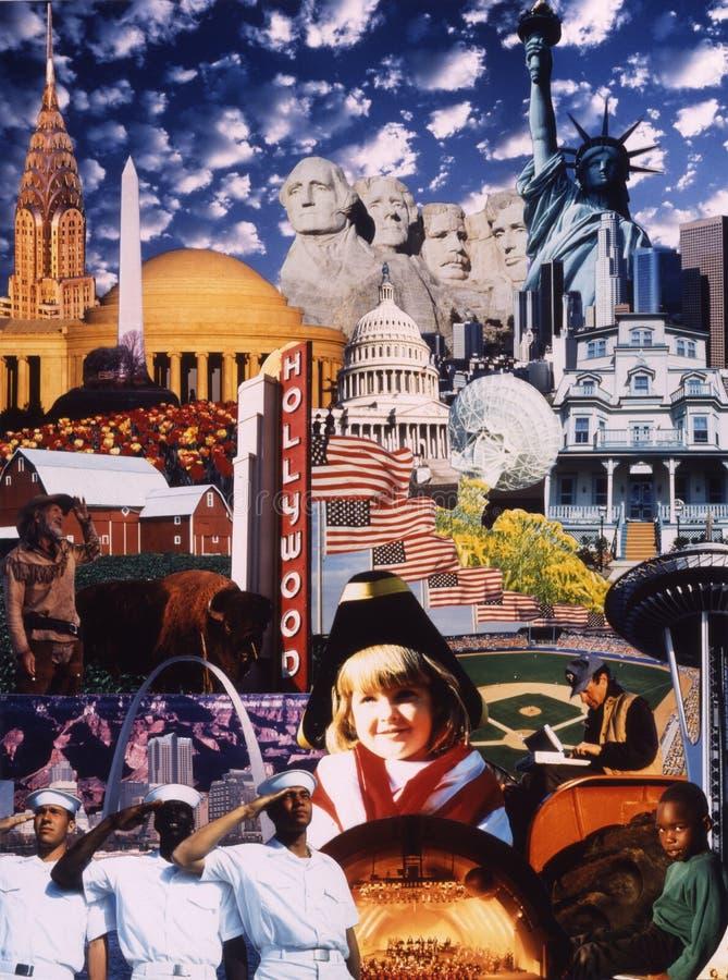 Collage des graphismes américains image stock