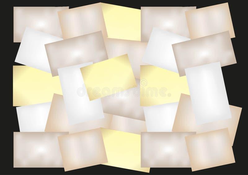 Collage des leeren alten Zeitungsblechschrotts stock abbildung