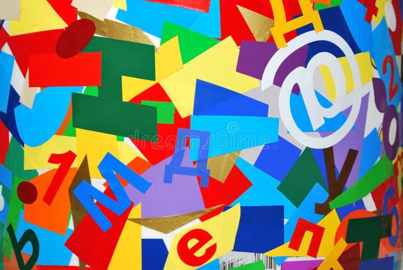 Collage des lettres multicolores photographie stock libre de droits