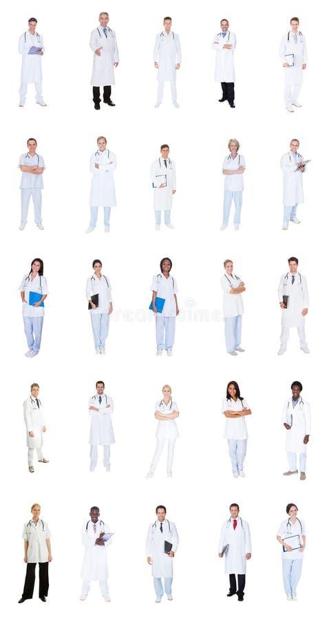 Collage des médecins divers images libres de droits