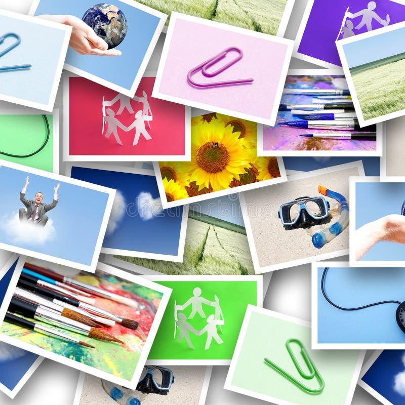 Collage des photos image libre de droits