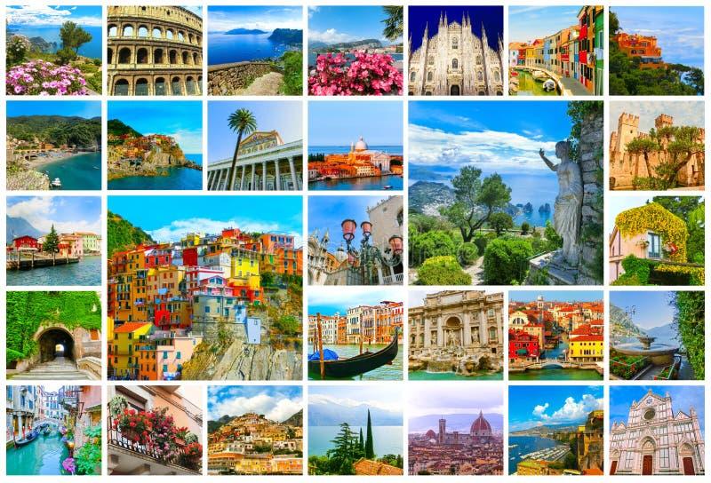 Collage des photos de l'Italie images libres de droits