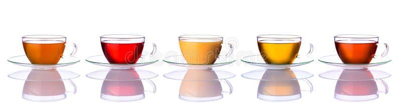 Collage des tasses de thé photos stock