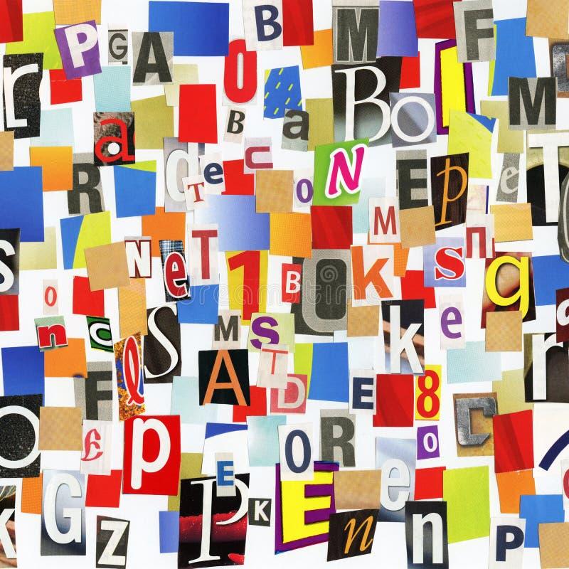 Collage di ABC fotografia stock libera da diritti