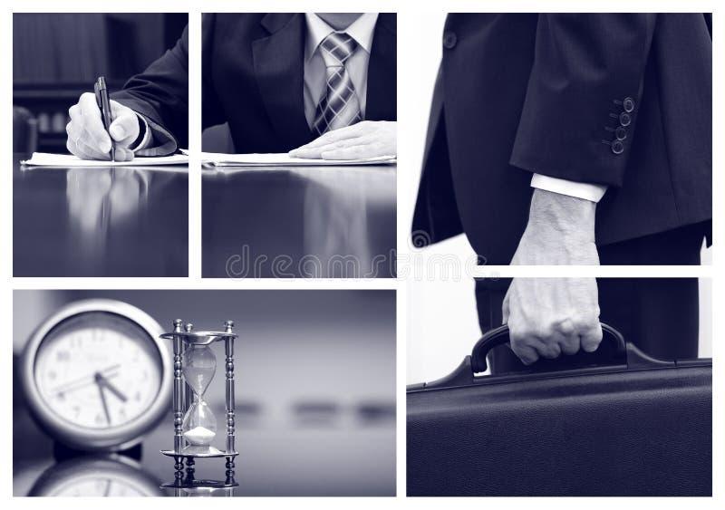 Collage di affari immagine stock