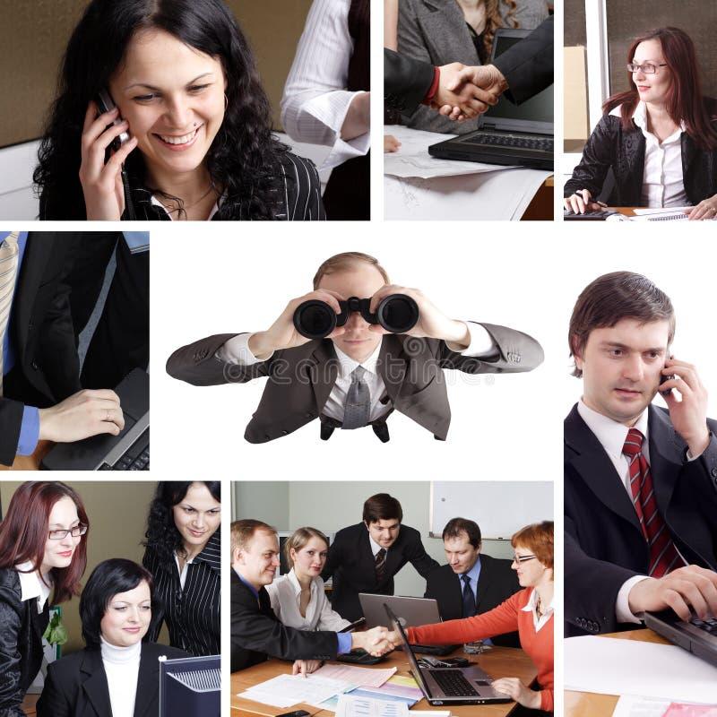 Collage di affari immagini stock