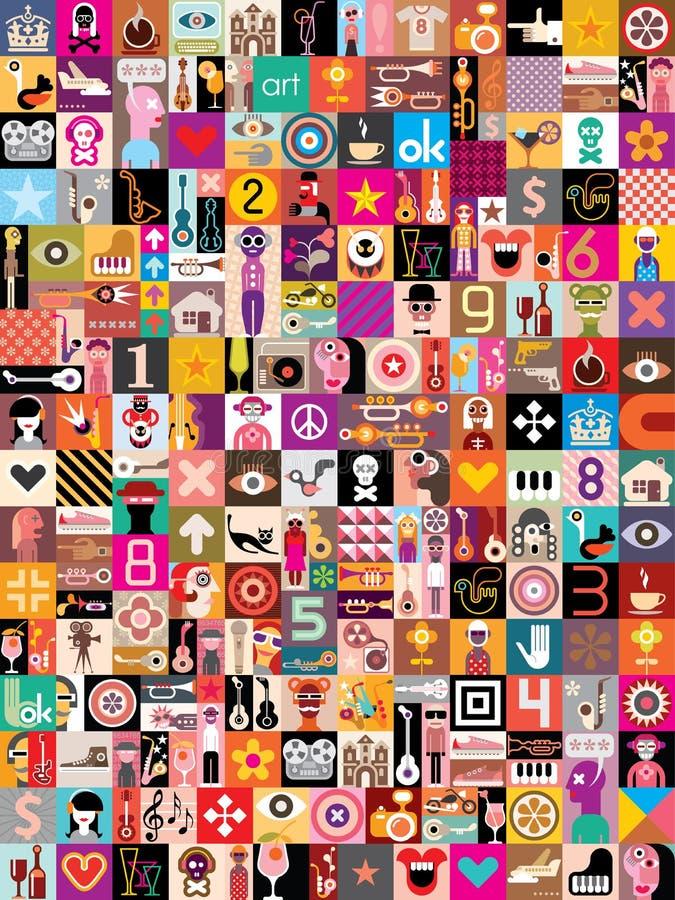Collage di arte royalty illustrazione gratis